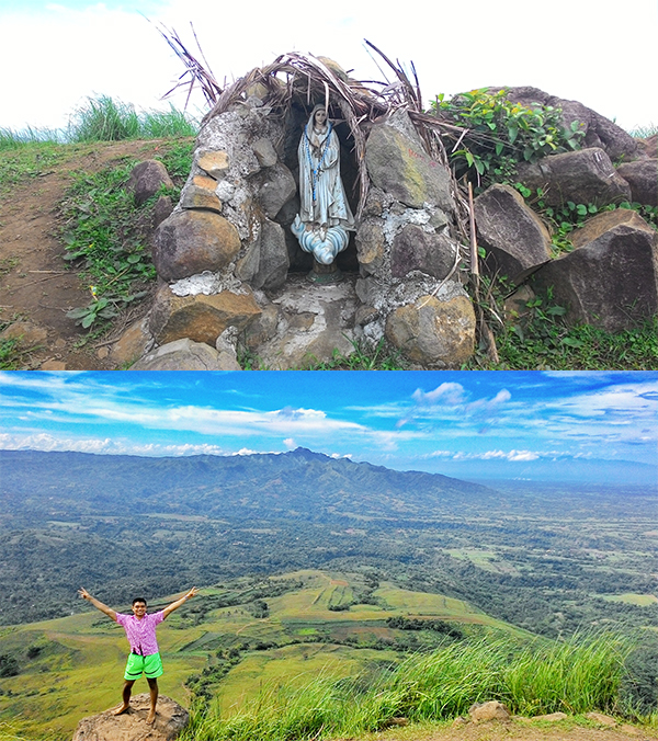 The grotto at the summit and move views