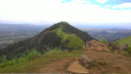 The other peak of Talamitam. Not yet open for hiking, but a trail is being established