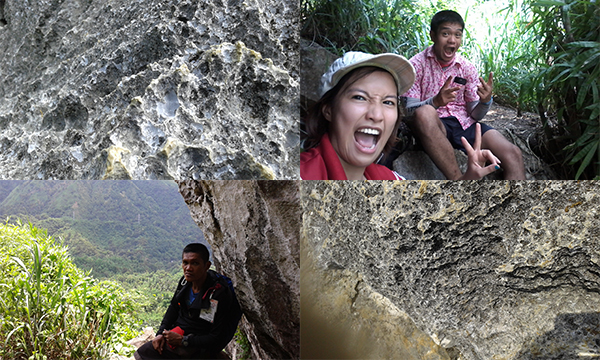 Look at those sharp rocks!