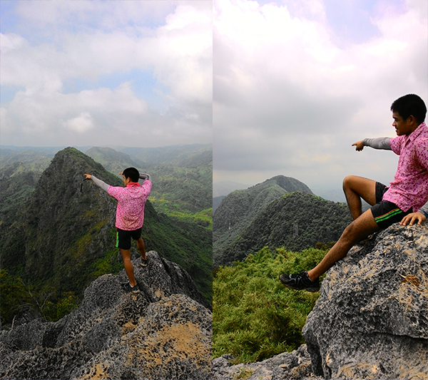 The traveling pink polo goes to Mt. Pamitinan and Mt. Binacayan!