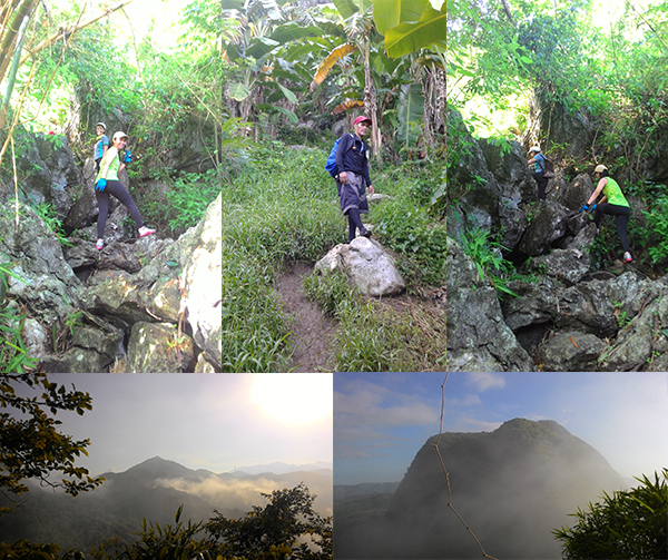 More rocks and the view of Mt. Ayaas and Mt. Hapunang Banoi