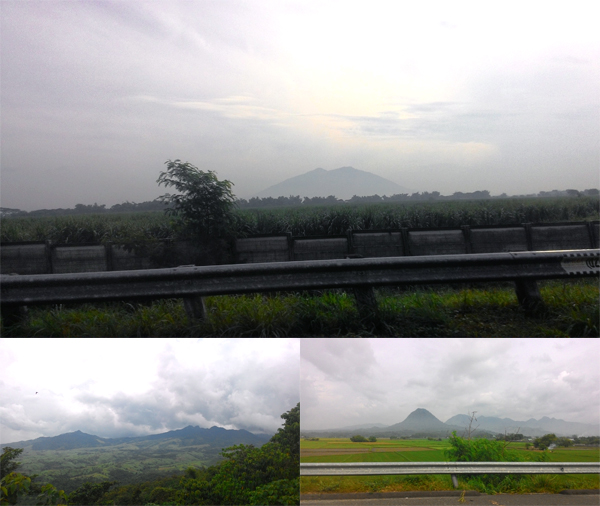Mt. Arayat in the distance with other cute hills and mountains.