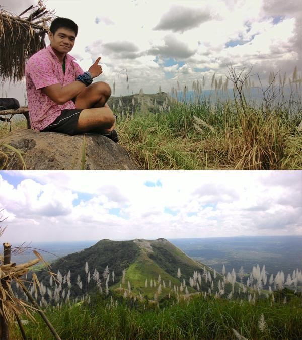 At the summit of Mt. Apayang; Mt. Talamitam at a distance