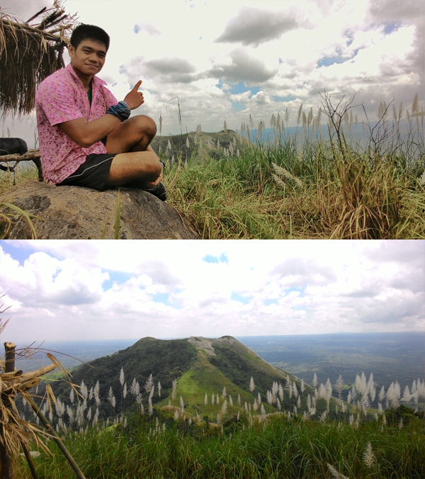 At the summit of Mt. Apayang; Mt. Talamitam at a distance