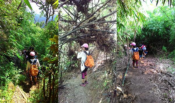 The traverse trail also has various terrain