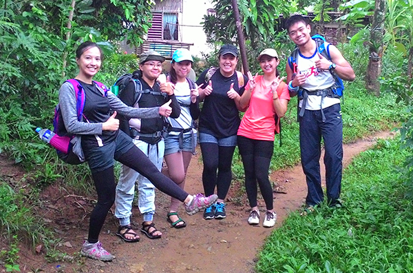 The brave hikers
