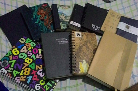 Just some of the notebooks in my collection