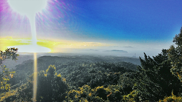 Corregidor island seen from the open trail
