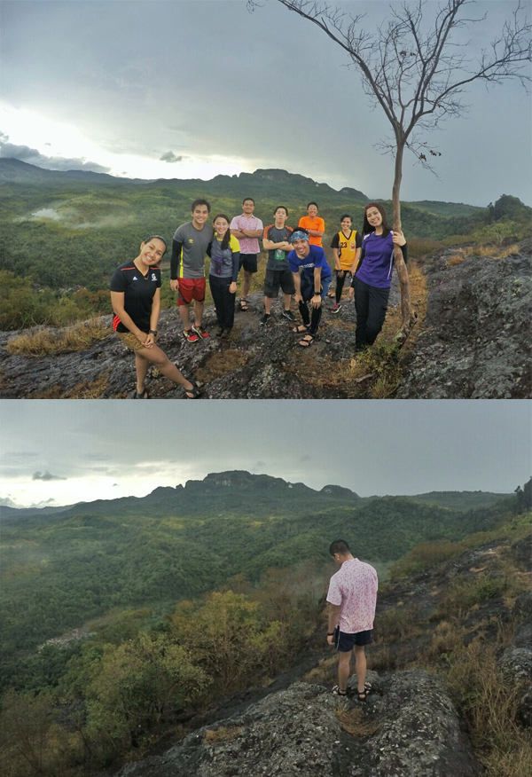 Mt. Gola summit with Mt. Mabio at the back, still closed to public hikers