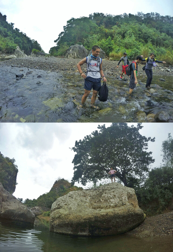 The river is enchanting, but also dangerous because the river bed can drop to deep levels without warning