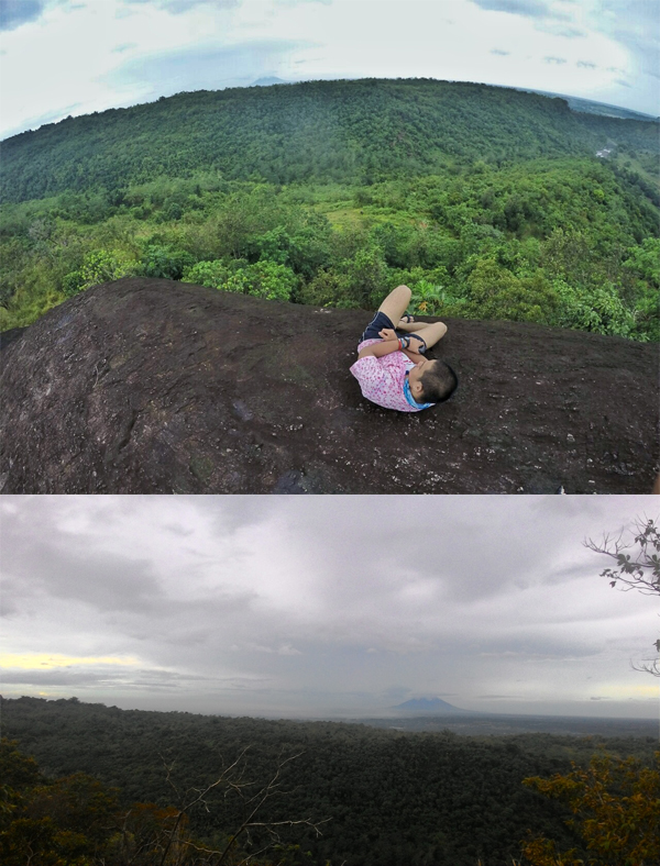 A few minutes from the summit, the viewdeck shows the Sierra Madre range and Mt. Arayat from a distance