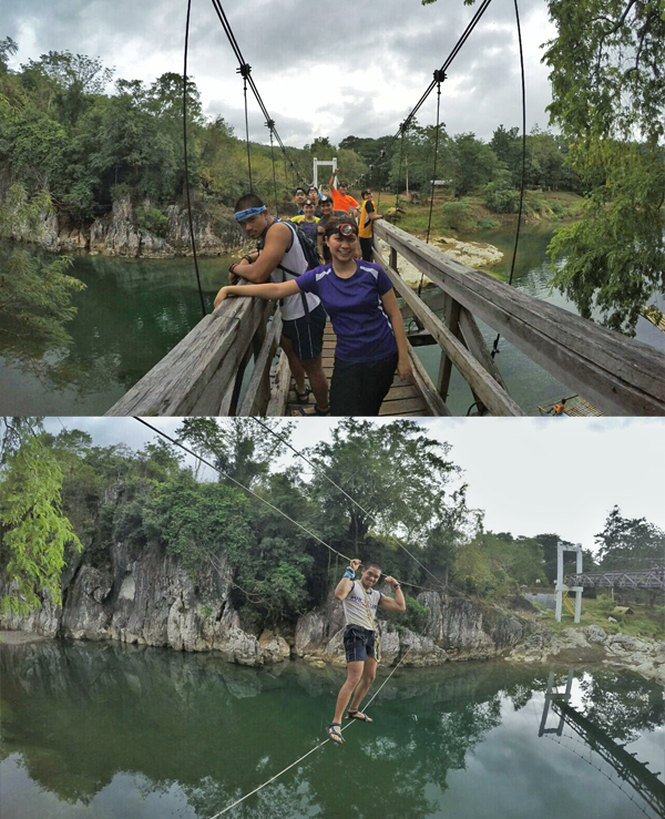 The monkey bridge is the most-anticipated highlight of the day