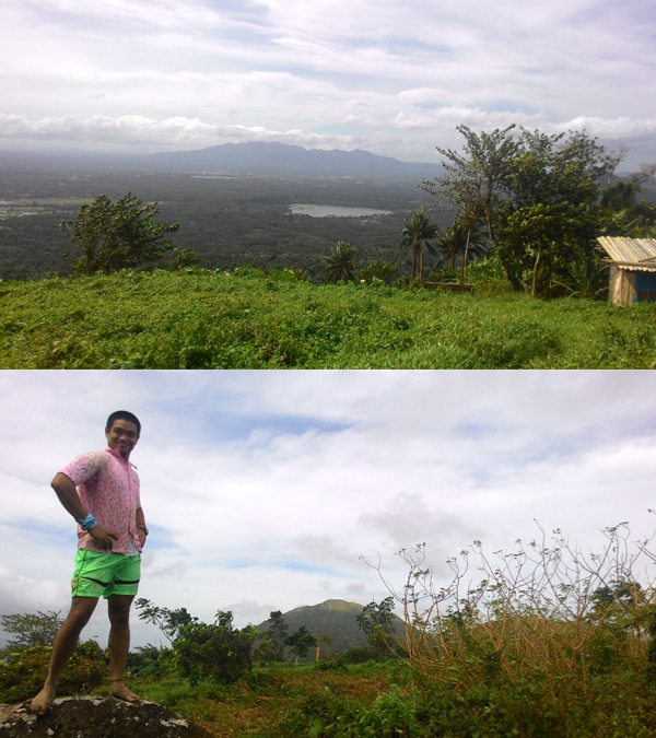IDK what mountain range this is, and me with Mt. Kalisungan at the background