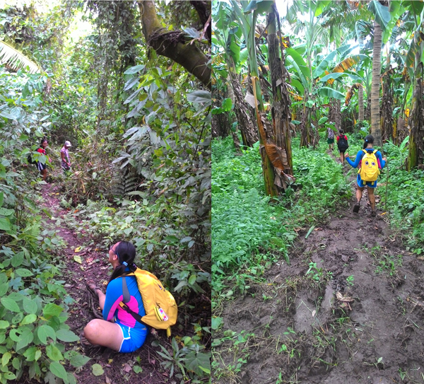 The descent was even harder, with us slipping every few minutes