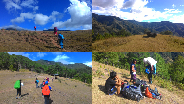 The initial trail was a rolling terrain with beautiful views of other Benguet mountains