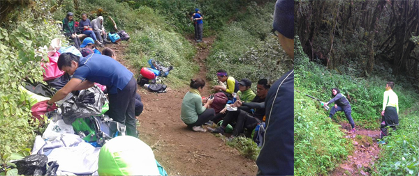 It is a great blessing to be provided with natural and potable water by the mountain as we climb it