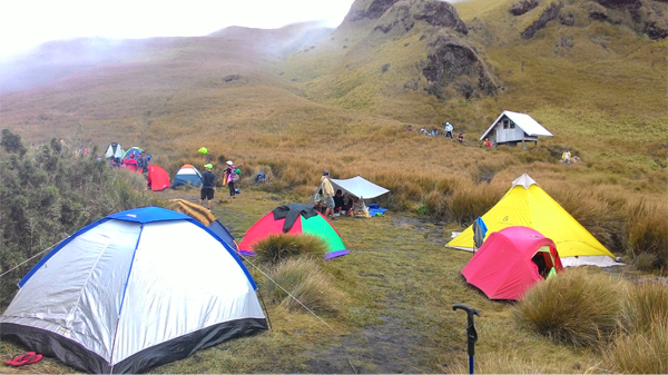 Hikers from all the trails (Akiki, Ambaguio, Ambangeg, Tawangan) set up camp here for the early assault to the summit
