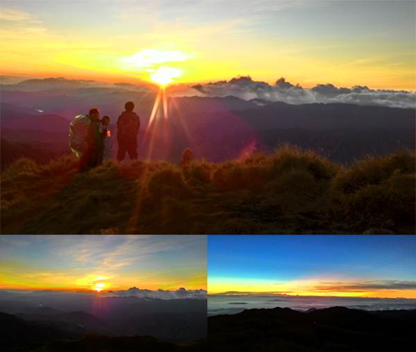 The wonderful colors of the sunset from the top of Luzon