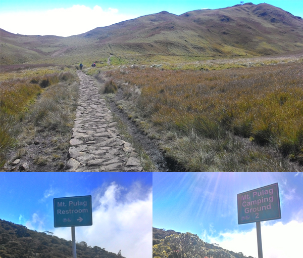 The way down Ambangeg is easy, albeit long; this time only made more challenging by the muddy trail