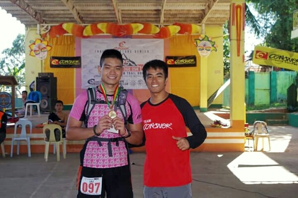 With the race director, sir Jigger Meneses