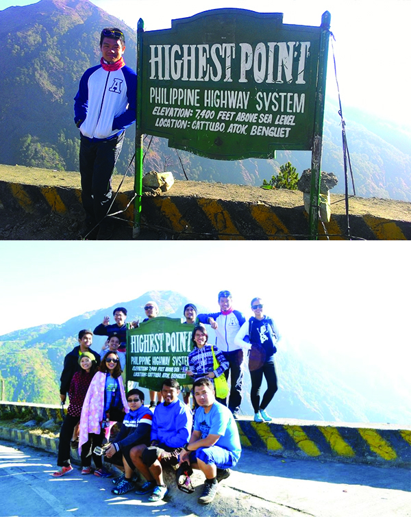 We passed through the highest part of the Philippine highway system