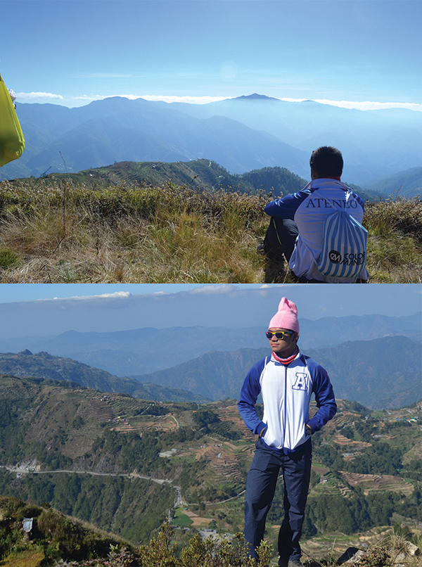 Posing at the top of Luzon's 3rd tallest