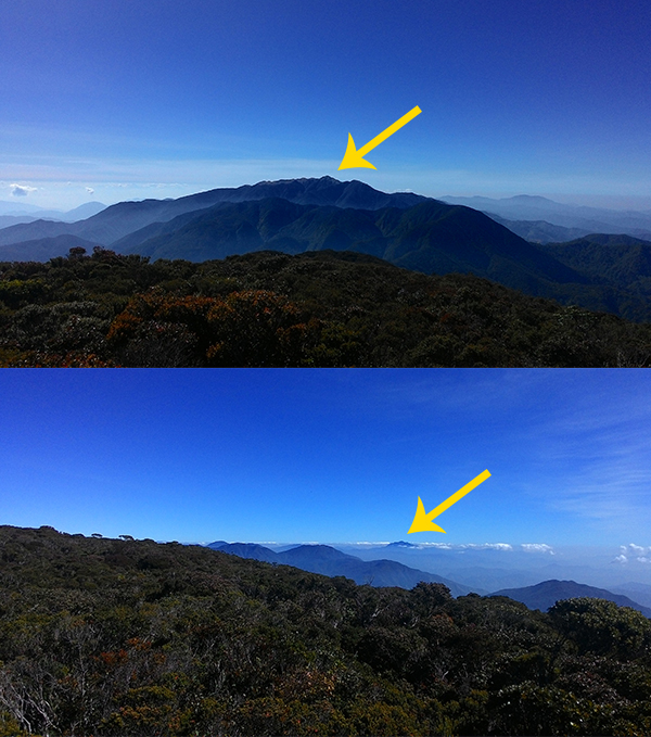 At the top is Mt. Pulag, and Mt. Amuyao at the bottom