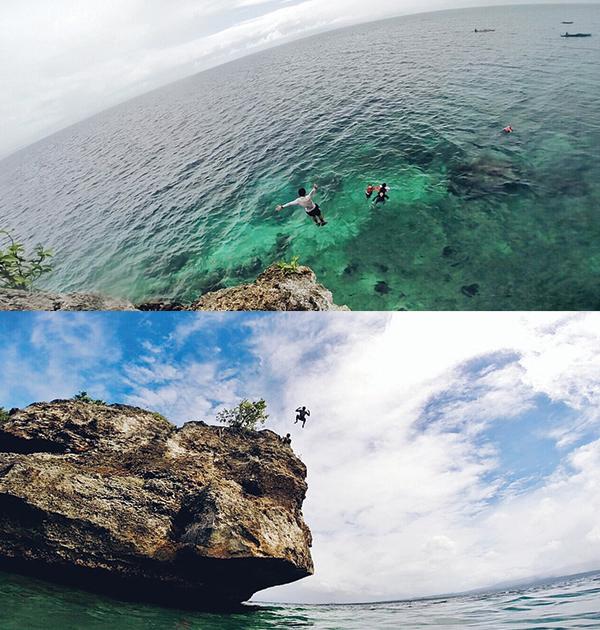 A 43-foot dive!