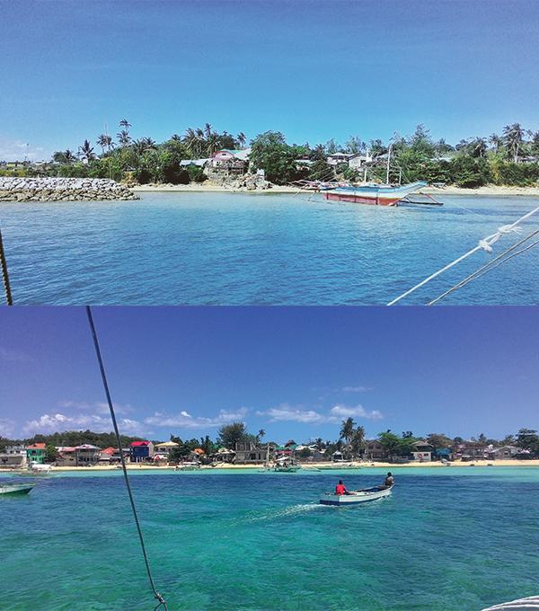 Leaving Maya port and entering Malapascua island!