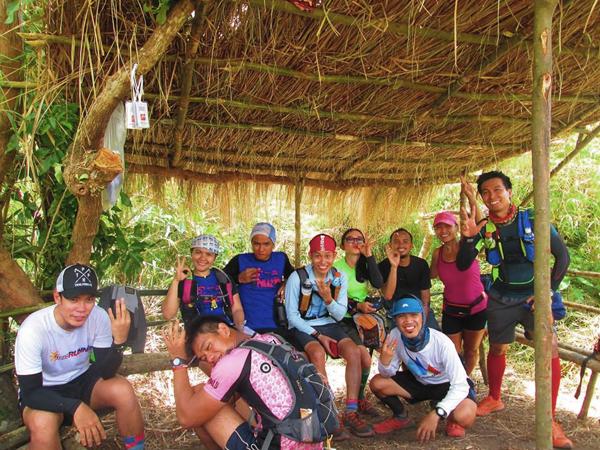 Escaping the heat at the Apayang hut