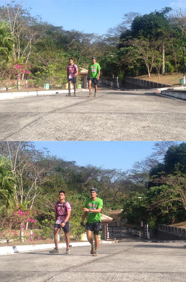 Haggard at the Bonifacio Shrine and before the tedious climb to Mt. Nagpatong