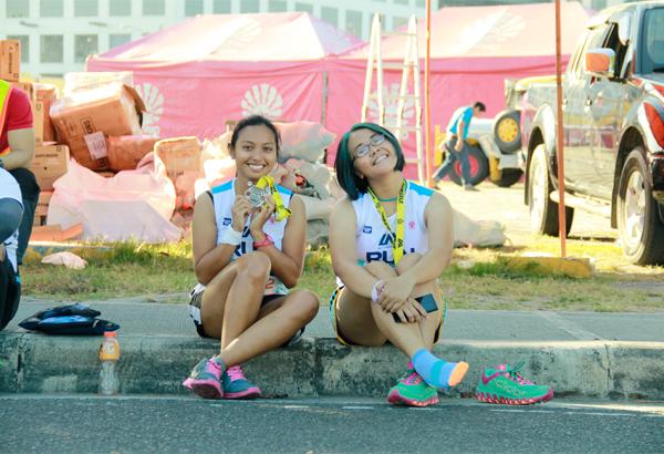 Congrats sa first half-marathon, Crissel; congrats sa buhok mo, Pritzy