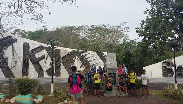 At the shrine of Bonifacio
