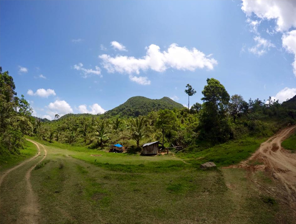 Mt. Lubog from a distance