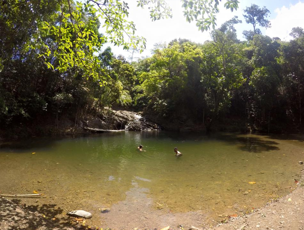 The peaceful Panintingan falls