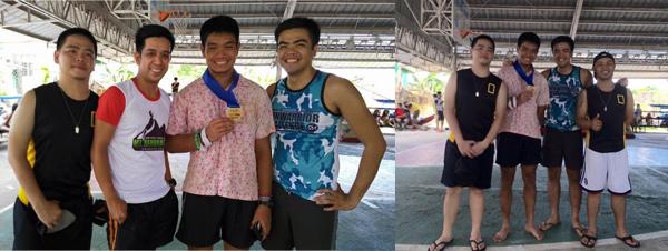 Road runner friends finishing their first trail run; Congrats!