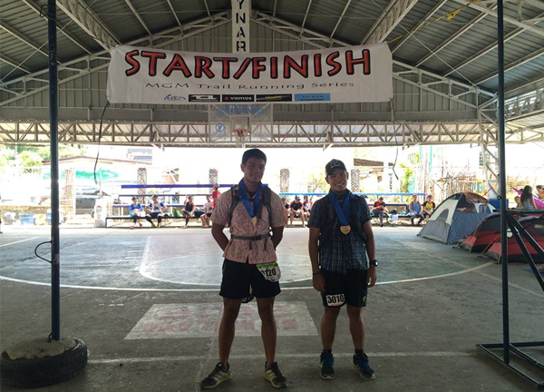Finish line with my pacer and #TeamPolo partner, Mark