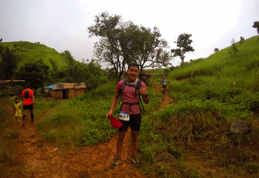 Thumbs up for a grueling route! Photo by Andrew Aquino