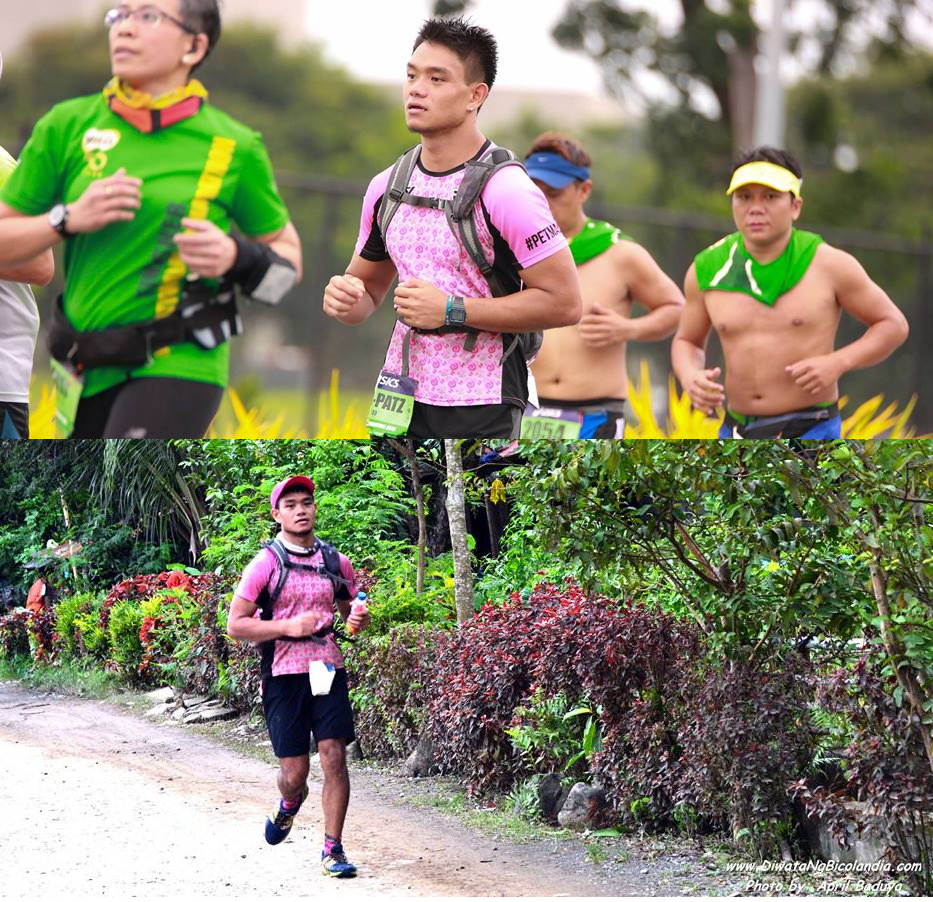 The pink jersey goes from road to trail!