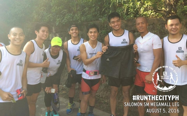 With Sir Wilnar and Sir Andrew and other runner friends with my new shorts!