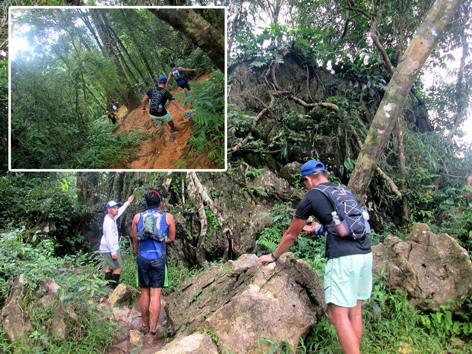 Maneuvering the different parts of the trail