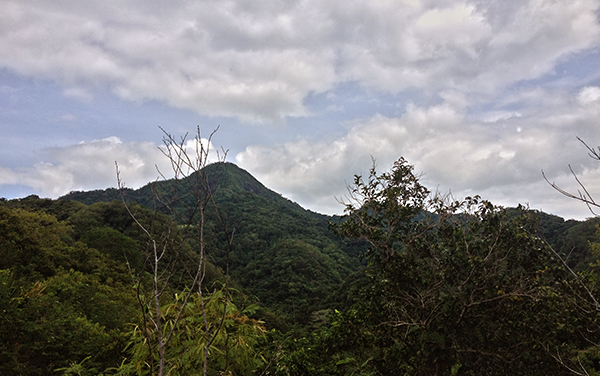 Mt. Hugom from the jumpoff; It's gonna be a long hike