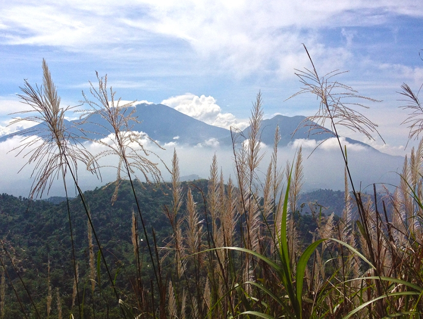Mt. Banahaw and Mt. Cristobal sleeping at the distance