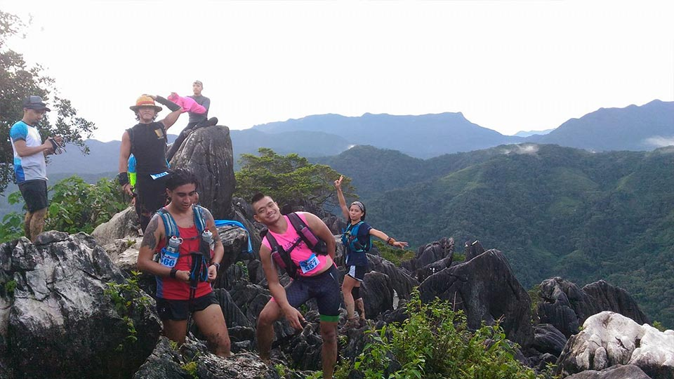 Photo-ops at the top of Mt. Lubog; Photo by Coach Archie