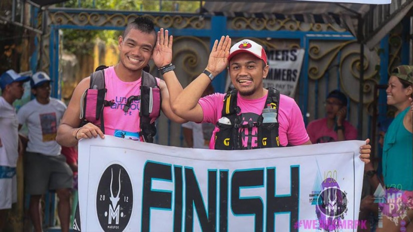 All smiles at the finish line