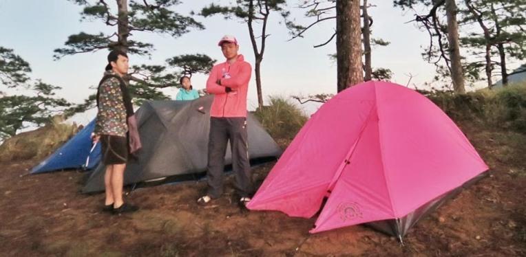 Standing near my favorite tent