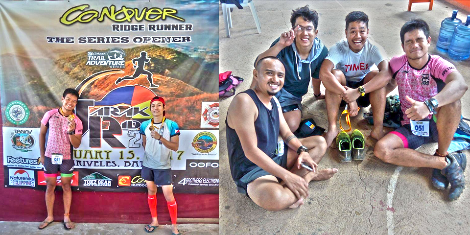 Happy anniversary, sir Del; Me with the veteran trailrunners