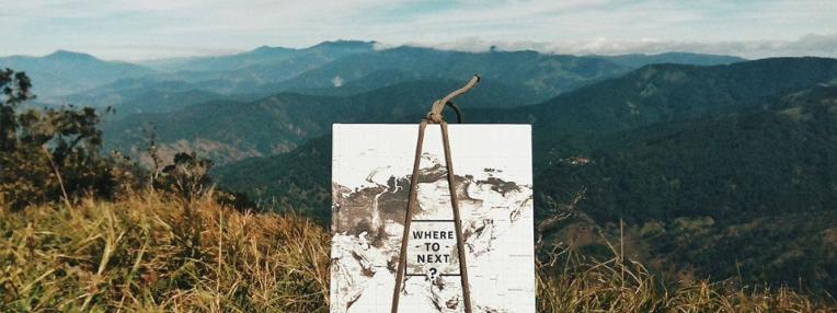At the summit with my Where to Next planner