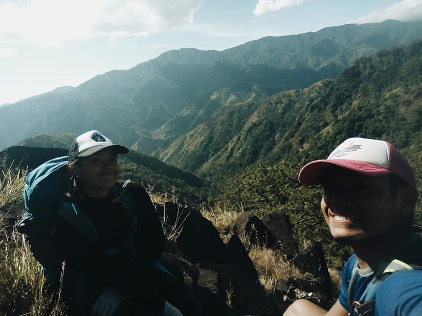 Taking a breather in the middle of assaulting Mt. Timarid
